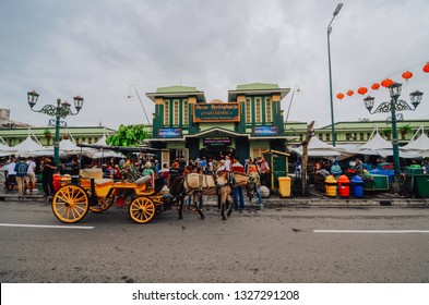 Yogyakarta, Indonesia - March 02, 2019 : Beringharjo market is a traditional market located in the center of Jogja