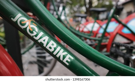 Yogyakarta, Indonesia - May 14, 2019: Jogja Bike is a technology based on the application of pedal bikes introduced to the community by the Yogyakarta City Government in early November