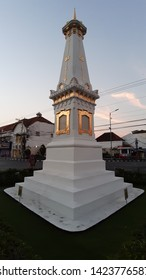 Yogyakarta, INDONESIA - May 15, 2019: Tugu Yogyakarta is a symbol of the city of Yogyakarta that connects the South Coast, Keraton, and Mount Merapi, built by Sultan Hamengkubuwana I in 1755.