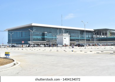 Yogyakarta, Indonesia - May 15th 2019: A view of Yogyakarta International Airport  or commonly called YIA. YIA is a new airport, located in Kulon Progo Regency, Special Region of Yogyakarta.