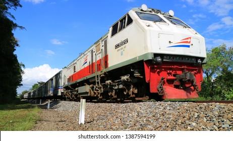 Yogyakarta, Indonesia - May 3, 2019: Kereta Api. Pasundan Train Passanger