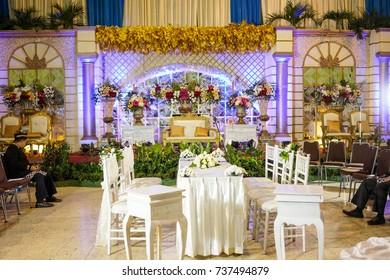 Yogyakarta indonesia october 1st 2017 wedding stock photo edit now yogyakarta indonesia october 1st 2017 wedding party with flower decoration wedding junglespirit Choice Image
