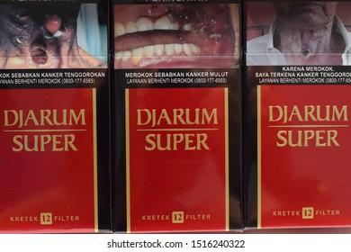 Yogyakarta, Indonesia - September 25th 2019: Djarum Super Cigarettes, is one of Indonesia's cigarette brands.