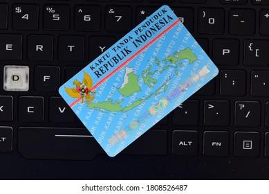 Yogyakarta, Indonesia - September 3rd 2020: KTP Kartu Tanda Penduduk (Indonesian Identity Card).