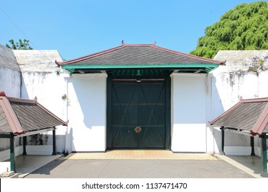 Yogyakarta july officer sultan palace stock photo edit now