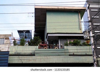 YOGYAKARTA JULY 2018 - People are developing a roof top house to adapt the expensive land value in Asia