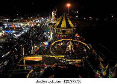 Yogyakarta, Nov 10th, 2017. Sekaten night market ( pasar malam sekaten).