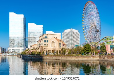 Yokohama, Japan - December 2, 2018: Yokohama Minato Mirai 21 in Yokohama, Japan.