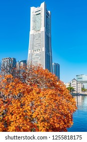 Yokohama, Japan - December 2, 2018: Yokohama Landmark Tower in Yokohama, Japan.