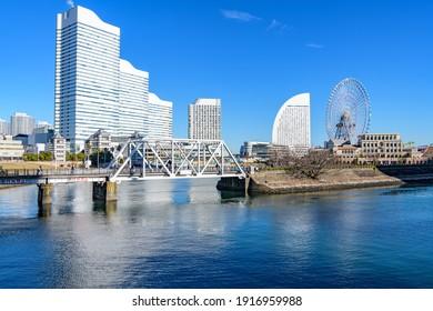 Yokohama, Japan - December 26, 2020: Yokohama Minato Mirai 21 in Yokohama, Japan.