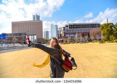 Yokohama, Japan - Feb 16, 2018: Landscape of Minato Mirai 21 area of Yokohama City in Kanagawa, Japan. Yokohama is the second largest city in Japan by population and most populous municipality.