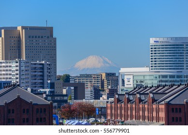 Yokohama, Japan - November 23, 2013: Landscape of Yokohama City which is the capital of Kanagawa Prefecture and is the second largest city in Japan.