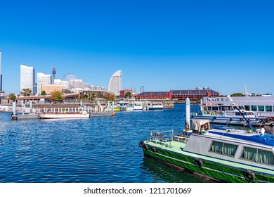 YOKOHAMA, JAPAN - October 21, 2018: Port of Yokohama in Yokohama, Japan.
