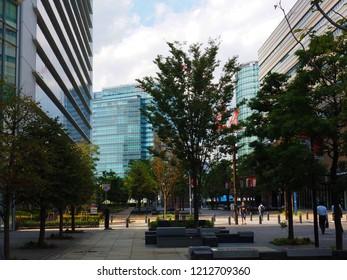 Yokohama Kanagawa,Japan/Sep 18,2018:cityscape of Yokohama Kanagawa Minatomirai area