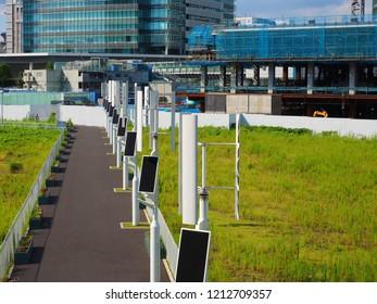 Yokohama Kanagawa,Japan/Sep 18,2018:windmill generator and construction site