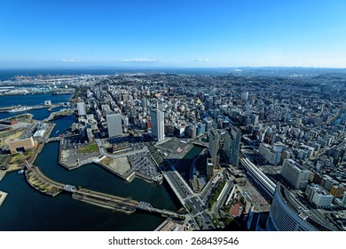 Yokohama Minato Mirai 21. View of Minato Mirai 21 in Yokohama, Japan in autumn.