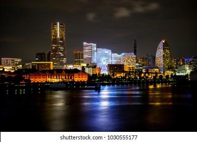 Yokohama night view, Kanagawa, Japan