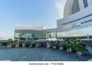 Yokohama, NOV 21: Morning view of modern building  on NOV 21, 2017 at Yokohama, Japan