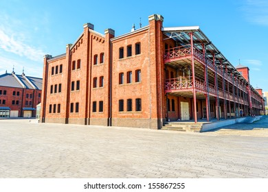 Yokohama Red Brick Warehouse in Yokohama, Japan. It was constructed in 1911.