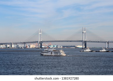 Yokohama,Kanagawa prefecture,Japan/Nov 17,2018:Scenery of Japanese Yokohama MinatoMirai. Yokohama bay bridge.