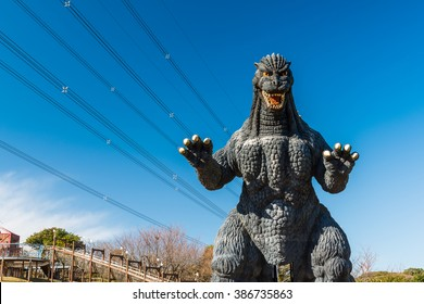 YOKOSUKA, Japan - FEB 7, 2016: Godzilla statue in Kurihama