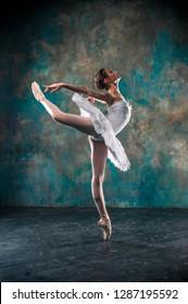 Yong ballerina posing