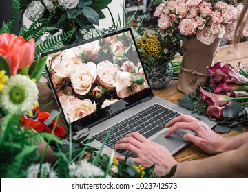 Yong florist using interface of online flower shop