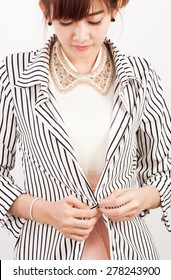 Yong girl wear cloth for office style