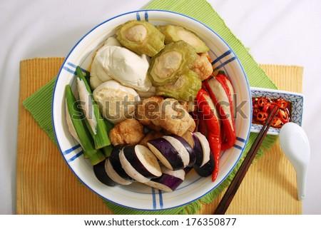 Yong Tau Foo Soup Dish Hakka Stock Photo Edit Now 176350877