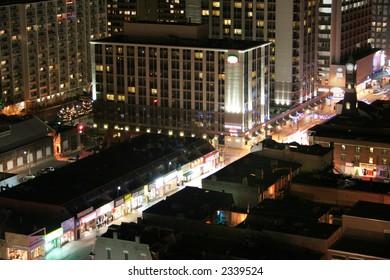 yonge street at night long exposure