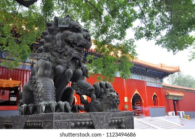 Yonghe Lama Temple is the largest Tibetan Buddhism temple in Han Chinese area, Beijing, China. This temple, built in 1694, has the combination of Chinese Tibetan style.