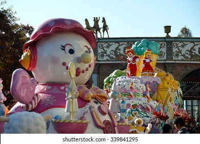 Yongin, South Korea - November 3, 2013: Everland Resort Christmas Fantasy Parade