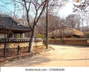 Yongin,South Korea - November 21,2019 : Korean folk village