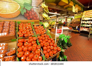 YONKERS, NEW YORK - JULY 15 2017: Stew Leonard's is a small chain of large markets in New York & Connecticut, said by Ripley's to have the world's largest dairy section