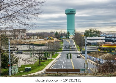 Yonkers, NY/USA-1/1/2016-View of the City of Yonkers,NY