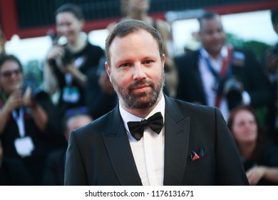 Yorgos Lanthimos walks the red carpet ahead of the Award Ceremony during the 75th Venice Film Festival at Sala Grande on September 8, 2018 in Venice, Italy.