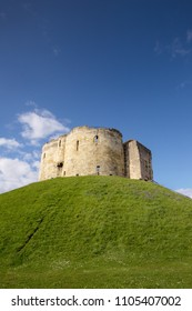 York Castle in the city of York, England. built on a grass mound, formerly used as a prison and royal mint.