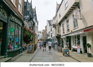York, England - 20 July 2016 : People walking in city of York, United Kingdom