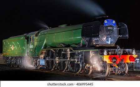 YORk, ENGLAND - FEBRUARY 28: The Flying Scotsman at the National Railway Museum (NRM) on August 28 2016 in York, England.
