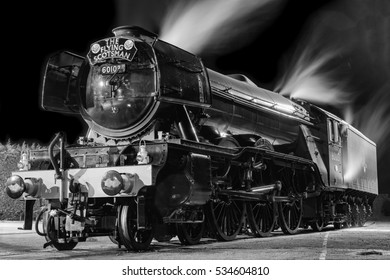 YORK, ENGLAND - FEBRUARY 28: The Flying Scotsman at the National Railway Museum (NRM) on August 28 2016 in York, England