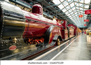 YORK, ENGLAND - MAY 16: Historic trains  in National railway museum on May 16, 2018 in York