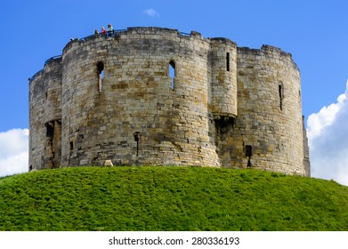 YORK, ENGLAND - MAY 20: Clifford's Tower. York, England, on 20th May 2015.
