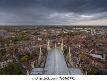 York England from York Minster looking over the city from above.