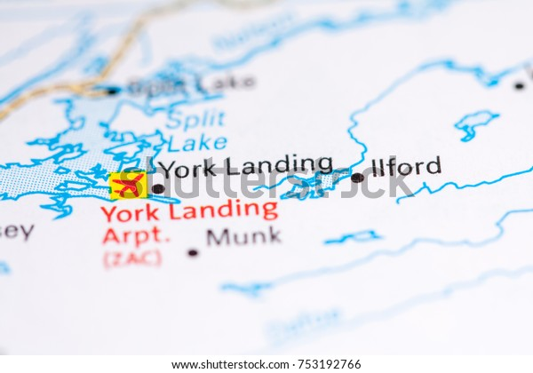 Map Of York Canada.York Landing Canada On Map Stock Photo Edit Now 753192766