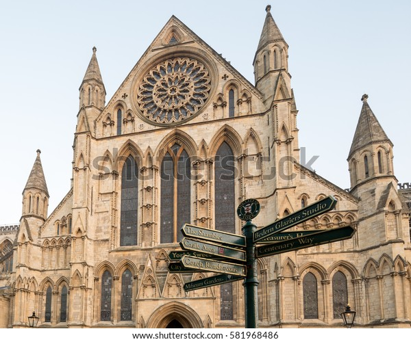 York Minster, Southern Entrance with the Rose Window