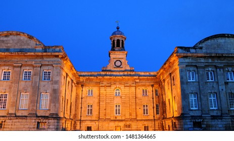 York, North Yorkshire / UK - 08/11/2019: Façade of the Debtor's Prison, now part of York Castle Museum.