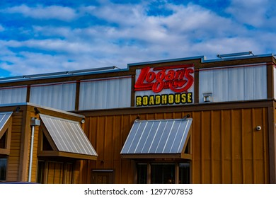 York, PA, USA - January 26, 2019: Logan's Roadhouse is an American restaurant chain operating more than 215 locations in 23 states.