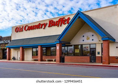 York, PA, USA - January 26, 2019: Old Country Buffet is a restaurant chain operating approximately 60 locations throughout the United States.