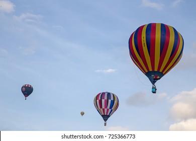 York Racecourse 30 September 2017. York Balloon Festival