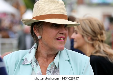 YORK RACECOURSE, NORTH YORKSHIRE, UK : 15 JUNE 2019 : Point to Point Trainer Cherry Coward at York Races